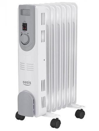 Масляный радиатор Oasis OS-15 1500 Вт белый масляный радиатор oasis bb 25t cерый