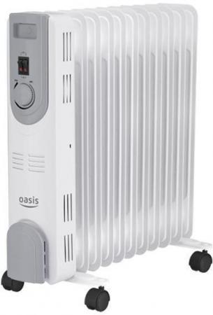 Масляный радиатор Oasis OS-25 2500 Вт белый серый