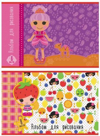 Альбом для рисования Action! Lalaloopsy A4 8 листов LL-AA-8 в ассортименте кукла lalaloopsy mini с интерьером в ассортименте