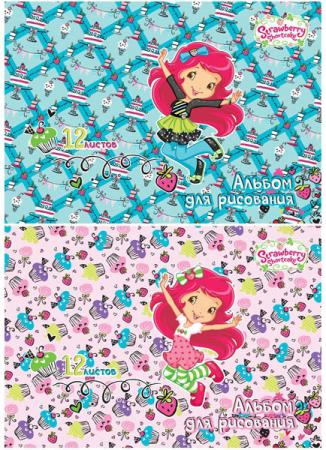 Альбом для рисования Action! Strawberry shortcake A4 12 листов SW-AA-12 в ассортименте цветная бумага action strawberry shortcake a4 10 листов sw ctp 10 10 в ассортименте тонированная