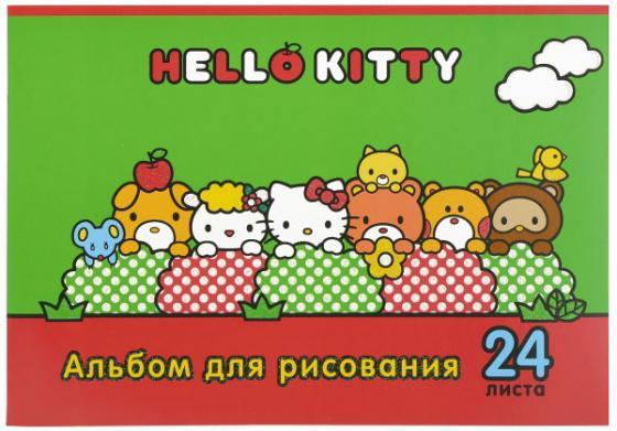 Альбом для рисования Action! Hello Kitty A4 24 листа HKO-AA-24-3 в ассортименте альбом для рисования action animal planet на гребне 40 листов в ассортименте