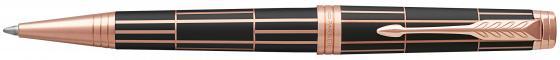 Шариковая ручка поворотная Parker Premier Luxury Brown PGT черный M 1931400 hidesign business parker 01 parker 01 brown
