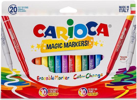 Набор фломастеров CARIOCA Magic 20 шт 41369 carioca набор смываемых восковых карандашей baby 8 цветов