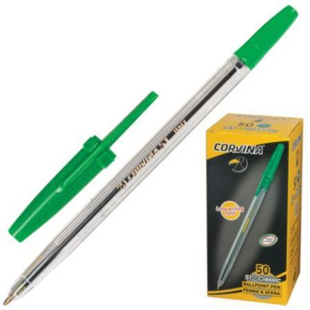 Шариковая ручка CARIOCA Corvina 51 зеленый 0.7 мм 40383/04/28311
