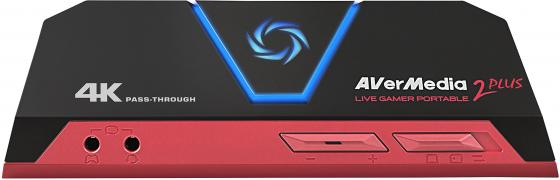 Карта видеозахвата Avermedia Live Gamer Portable 2 Plus внешний HDMI плата видеозахвата avermedia live gamer portable 2 gc510