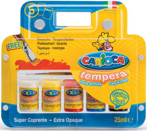Краски темперные Carioca KO033 5 цветов цена
