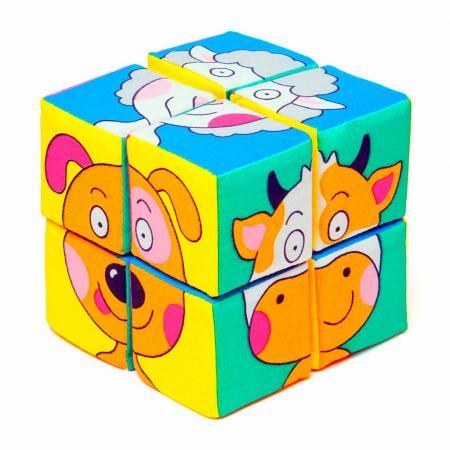 Кубики МЯКИШИ Зверята 336 8 шт 1toy 1toy обучающие кубики кубики с животными