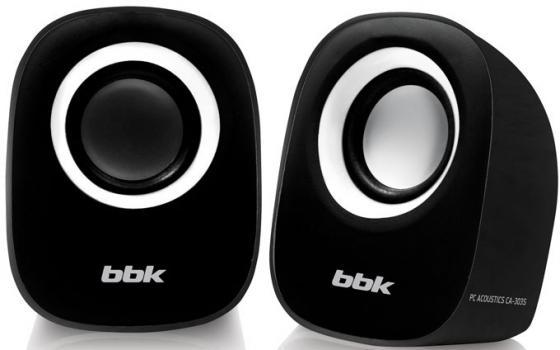 Колонки BBK CA-303S 2x1.5 Вт черный/белый цена 2017
