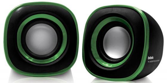 Колонки BBK CA-301S 2x1.5 Вт черный/зеленый компьютерные колонки bbk ca 217s черный