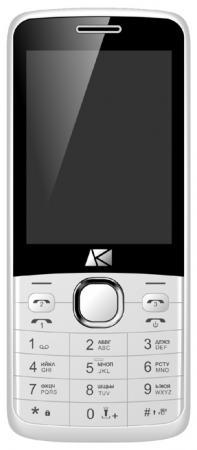 Мобильный телефон ARK Benefit U281 белый 2.8 32 Мб 3 симкарты мобильный телефон ark benefit v1 серый 2 4 64 мб