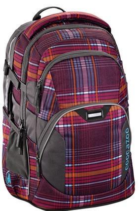 где купить Рюкзак светоотражающие материалы Coocazoo JobJobber2 The Line Purple 30 л бордовый оранжевый 00129883 дешево