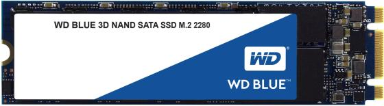 Твердотельный накопитель SSD M.2 500Gb Western Digital Blue Read 560Mb/s Write 530Mb/s SATAIII WDS500G2B0B твердотельный накопитель ssd m 2 250gb western digital blue read 550mb s write 525mb s sataiii wds250g2b0b