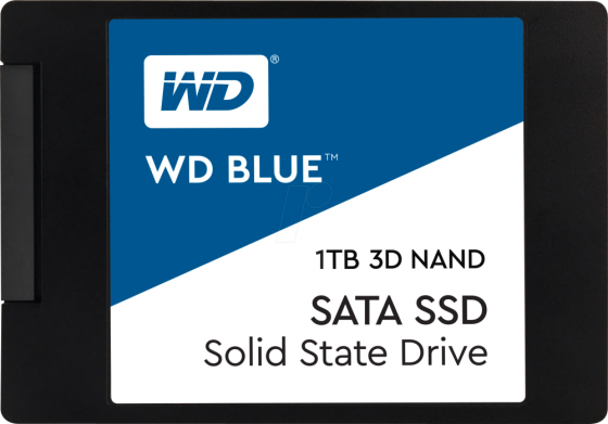 Твердотельный накопитель SSD 2.5 1Tb Western Digital Blue Read 560Mb/ Write 530Mb/ SATAIII WDS100T2B0A