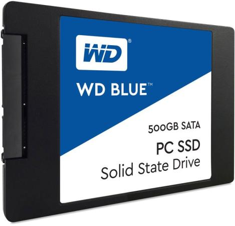 Твердотельный накопитель SSD 2.5 500Gb Western Digital Blue Read 560Mb/s Write 530Mb/s SATAIII WDS500G2B0A