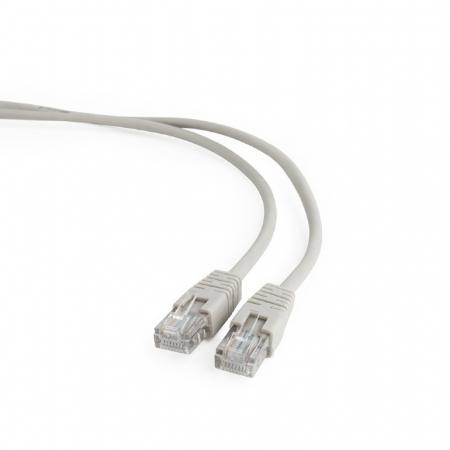 Патч-корд UTP 5e категории 1м серый CCA PVC