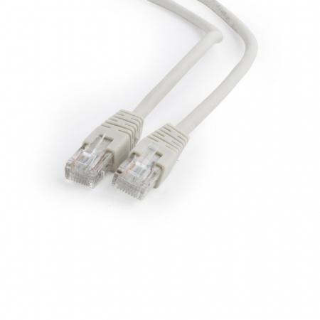 Патч-корд UTP 6 категории 1м серый CCA PVC
