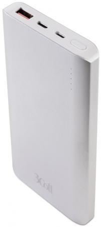 Портативное зарядное устройство 3Cott 3C-PB-100QC 10000mAh серебристый цена и фото