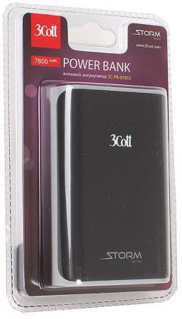 Портативное зарядное устройство 3Cott 3C-PB-078SS 7800mAh серебристый черный