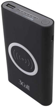 Фото - Внешний аккумулятор Power Bank 8000 мАч 3Cott 3C-PB-80A черный внешний аккумулятор power bank 10000 мач cyberpower cp10000peg белый