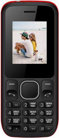 """Мобильный телефон Irbis SF02 черный красный 1.8"""" 32 Мб"""