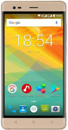 Смартфон Prestigio Grace R5 LTE золотистый 5.5 16 Гб LTE Wi-Fi GPS 3G PSP5552DUOGOLD смартфон prestigio muze b7 черный 5 16 гб wi fi gps 3g psp7511duoblack