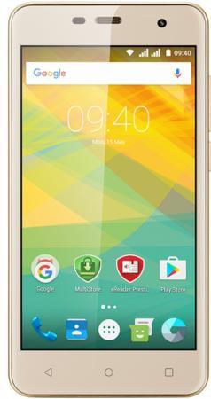 Смартфон Prestigio Muze G3 LTE золотистый 5 8 Гб Wi-Fi GPS 3G LTE PSP3511DUOGOLD смартфон asus zenfone live zb501kl золотистый 5 32 гб lte wi fi gps 3g 90ak0072 m00140