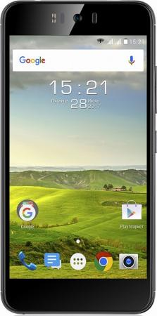 Смартфон Fly FS520 Selfie 1 черный 5.2 16 Гб LTE Wi-Fi GPS 3G смартфон micromax q334 canvas magnus черный 5 4 гб wi fi gps 3g