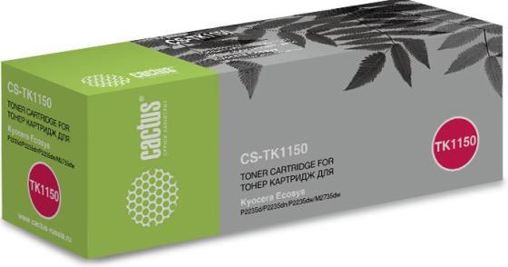 Картридж Cactus CS-TK1150 черный (3000стр.) для Kyocera Ecosys P2235d/P2235dn/P2235dw/M2735dw картридж nv print nvp tk 1150 для kyocera p2235d p2235dn p2235dw m2135dn m2635dn m2635dw m2735dw 3000k