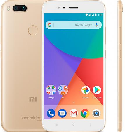 Смартфон Xiaomi MI A1 золотистый 5.5 64 Гб LTE Wi-Fi GPS 3G (MIA1GD64GB) number ten