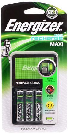Зарядное устройство + аккумуляторы 2000 mAh Energizer Maxi AA 4 шт 638582\\E300321200 зарядное устройство аккумуляторы energizer base 4aa 1300mah