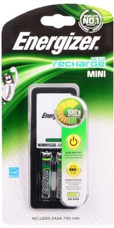 Зарядное устройство + аккумуляторы 700 mAh Energizer Mini AAA 2 шт 638584/E300321300 зарядное устройство аккумуляторы energizer base 4aa 1300mah