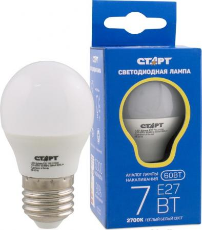 Лампа светодиодная шар СТАРТ LEDSphereE27 7W27 E27 7W 2700K naobay hydraplus cream крем для лица 50 мл