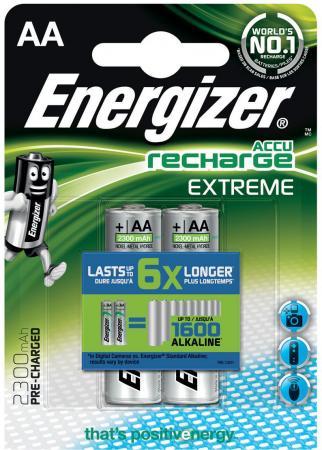 Аккумуляторы 2300 mAh Energizer Extreme AA 2 шт 638588/E300323700 аккумулятор energizer rech power plus тип aa 2000 mah 1 2v 4 шт
