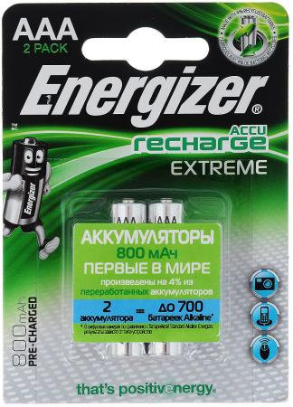 Аккумуляторы 800 mAh Energizer Extreme AAA 2 шт 638628/E300324300/E300624300 аккумуляторы energizer power plus 2500 mah d 2 шт e300322000 635675