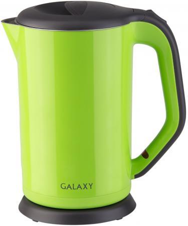 Чайник GALAXY GL0318 2000 Вт зелёный 1.7 л металл/пластик чайник galaxy gl0301 2000 вт 1 5 л пластик белый рисунок
