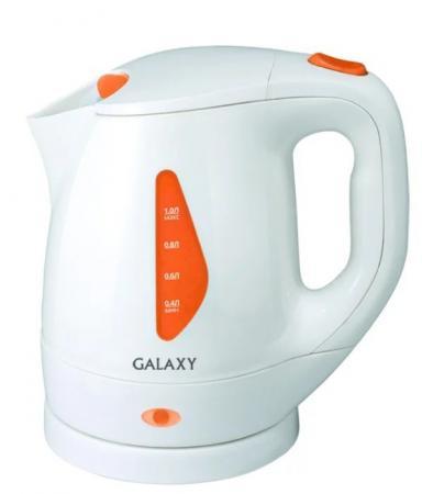 Чайник GALAXY GL0220 900 Вт белый 1 л пластик чайник galaxy gl0301 2000 вт 1 5 л пластик белый рисунок