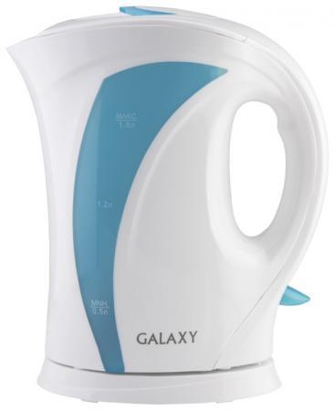 Чайник GALAXY GL0103 2200 Вт белый голубой 1.8 л пластик
