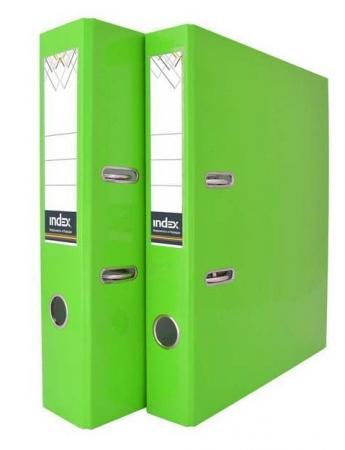 Папка-регистратор COLOURPLAY, 80 мм, ламинированная, неоновая зеленая IND 8 LA GN папка a4 2 кольца диаметром 16 мм зеленая rb 16 2 03