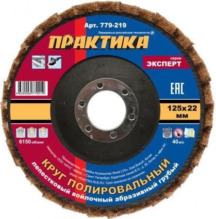 Круг лепестковый Практика полировальный 125х22мм войлочный абразивный грубый 779-219 круг полировальный 125х5 мм войлочный