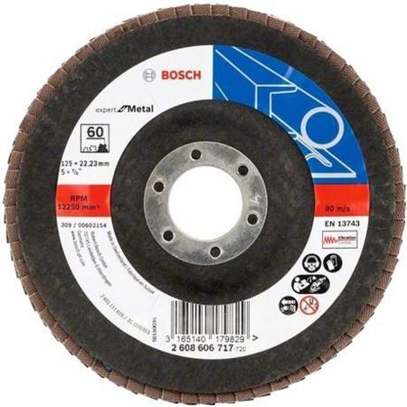 Лепестковый диск Bosch 125мм K60 E.f.Metal 2608606717 диск k