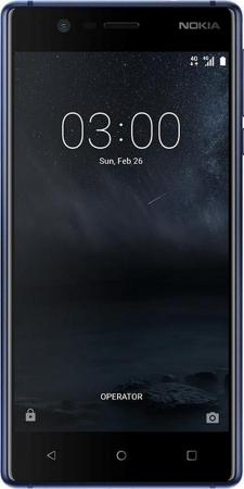Смартфон NOKIA 3 Dual sim синий 5 16 Гб NFC LTE Wi-Fi GPS 3G TA-1032 11NE1L01A06 смартфон nokia 8 dual sim polished blue