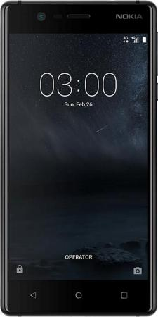 Смартфон NOKIA 3 Dual sim черный 5 16 Гб NFC LTE Wi-Fi GPS 3G TA-1032 11NE1B01A09 смартфон asus zenfone live zb501kl золотистый 5 32 гб lte wi fi gps 3g 90ak0072 m00140