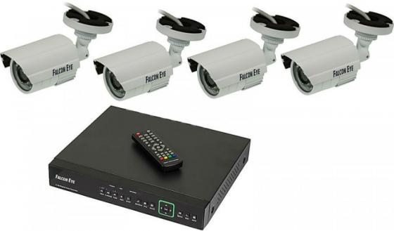 Комплект видеонаблюдения Falcon Eye FE-104MHD Kit Дача 4 камеры 4-х канальный видеорегистратор видеорегистратор falcon hd02 lcd