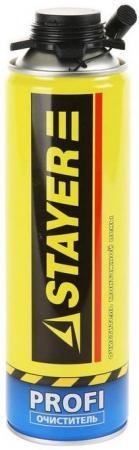 Очиститель монтажной пены Stayer Profi 500мл 41139 лента stayer profi клейкая противоскользящая 50мм х 5м 12270 50 05