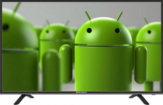 "Телевизор 32"" SHIVAKI STV-32LED18S черный 1366x768 Wi-Fi Smart TV SCART RJ-45 телевизор 32 sony kdl 32wd603br hd 1366x768 smart tv usb hdmi wi fi чёрный"