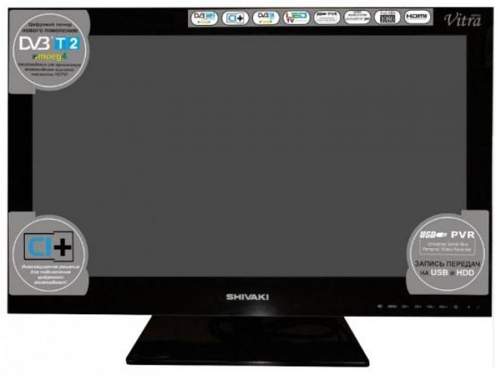 Телевизор 24 SHIVAKI STV-24LEDG9 черный 1920x1080 50 Гц SCART VGA HDMI USB телевизор supra stv lc22lt0010f led 22 black 16 9 1920x1080 80000 1 220 кд м2 usb vga hdmi dvb t2 c