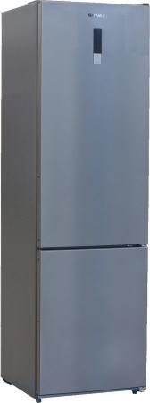 Холодильник SHIVAKI BMR-2001DNFX серебристый холодильник shivaki bmr 2013dnfw двухкамерный белый