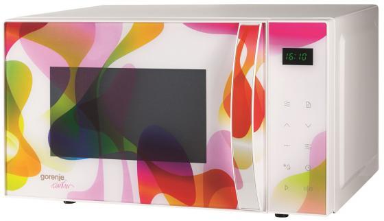 Микроволновая печь Gorenje MO20KARIM 800 Вт белый с рисунком микроволновая печь gorenje mo23oraw 900 вт белый