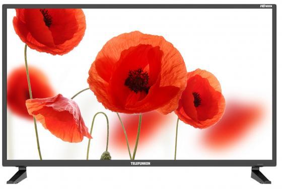 Телевизор LED 32 Telefunken TF-LED32S61T2( черный 1366x768 50 Гц USB SCART VGA телевизор 24 telefunken tf led24s37t2 hd 1366x768 черный