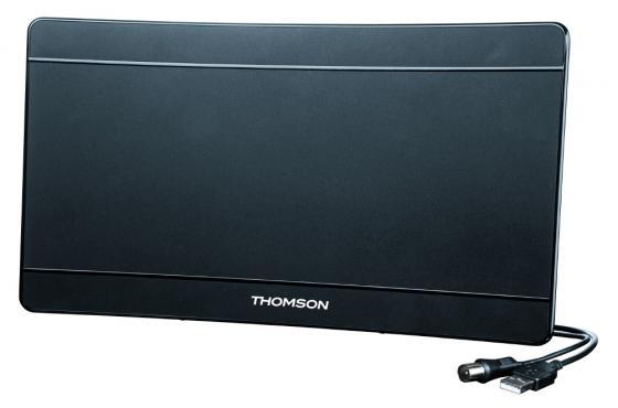 лучшая цена Антенна Thomson ANT1706 43дБ активная черный кабель 1.4м